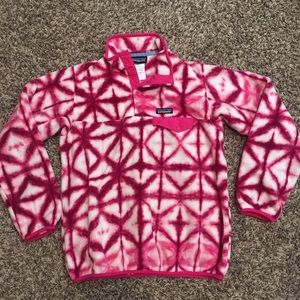 Women's pink Patagonia Synchilla Pullover